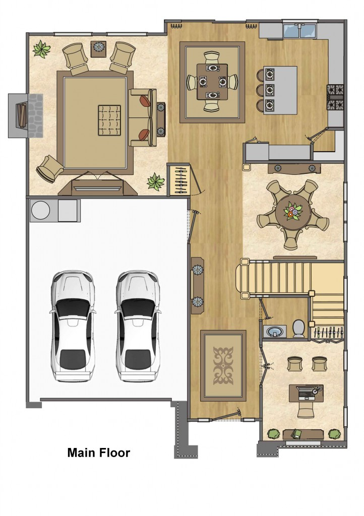 Example Floor Plan Layout — Portland Interior Design