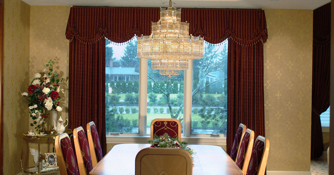 custom window treatments drapery panels   valances Interior Design Career Fair Project Residential Interior Design