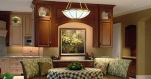 Kitchen Design requires disciplined color coordination of the cabinets, furniture, flooring and fabrics.