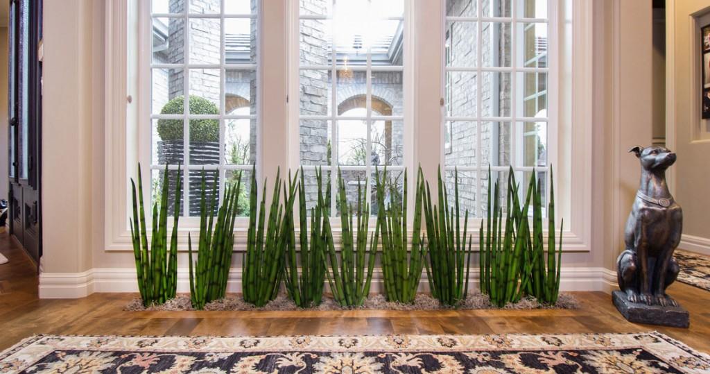 inset floor planter, Karastan area rug