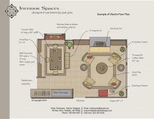 Interior Floor Plan by Interior Spaces