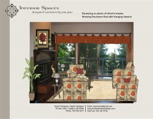 Interior Photo Hanging Valance as proposed by the master plan during interior design consulting.