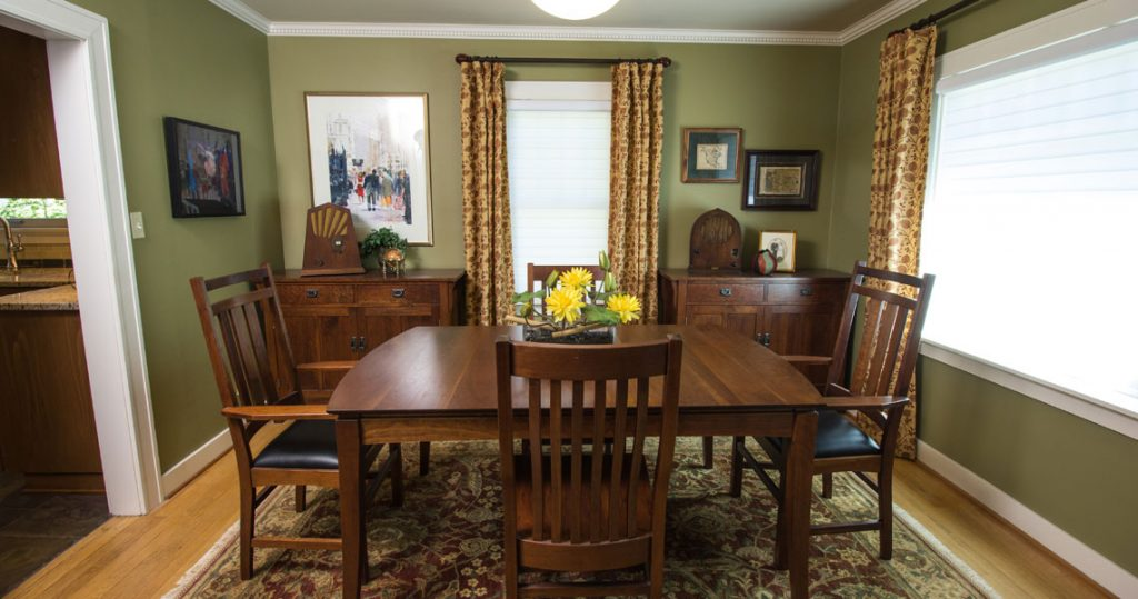 Gat Creek furniture in craftsman style dining room