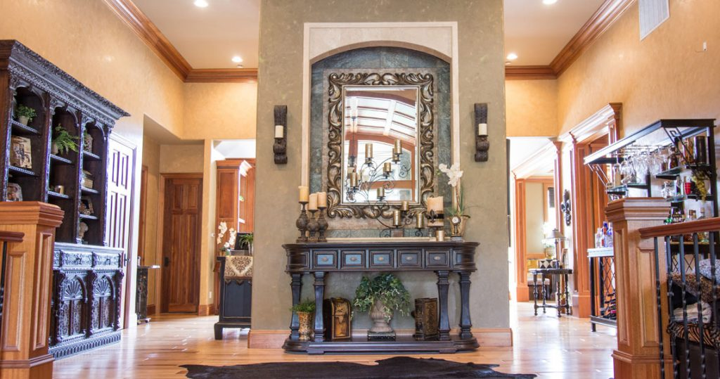 Entry way of Oregon City client by Interior Spaces Interior Designer