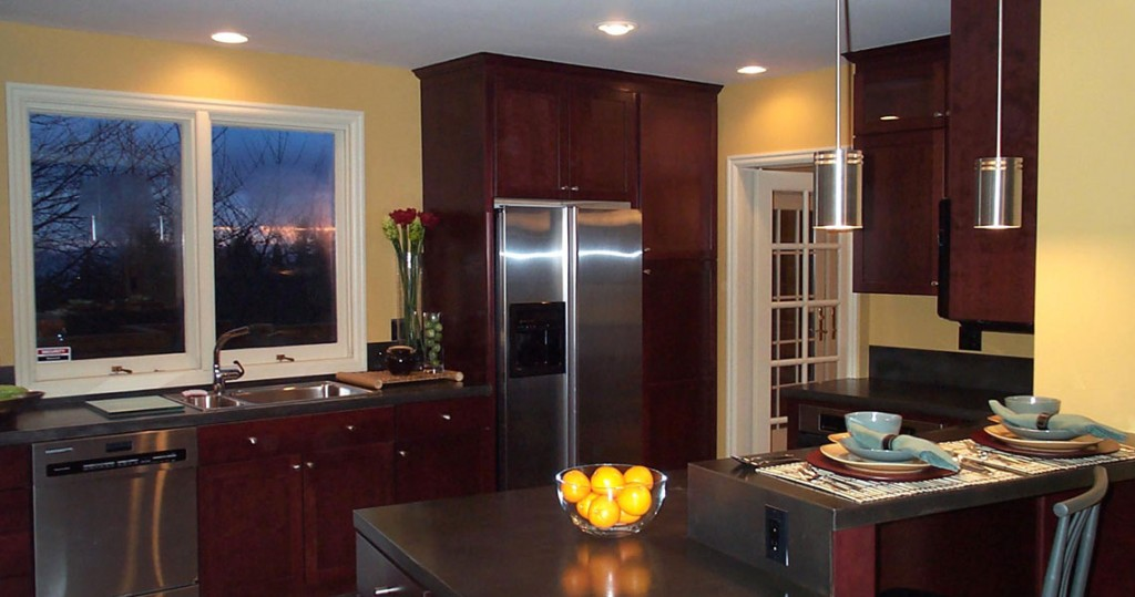 contemporary kitchen design, steel countertops
