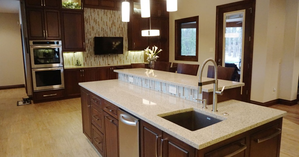 quartz countertops in kitchen
