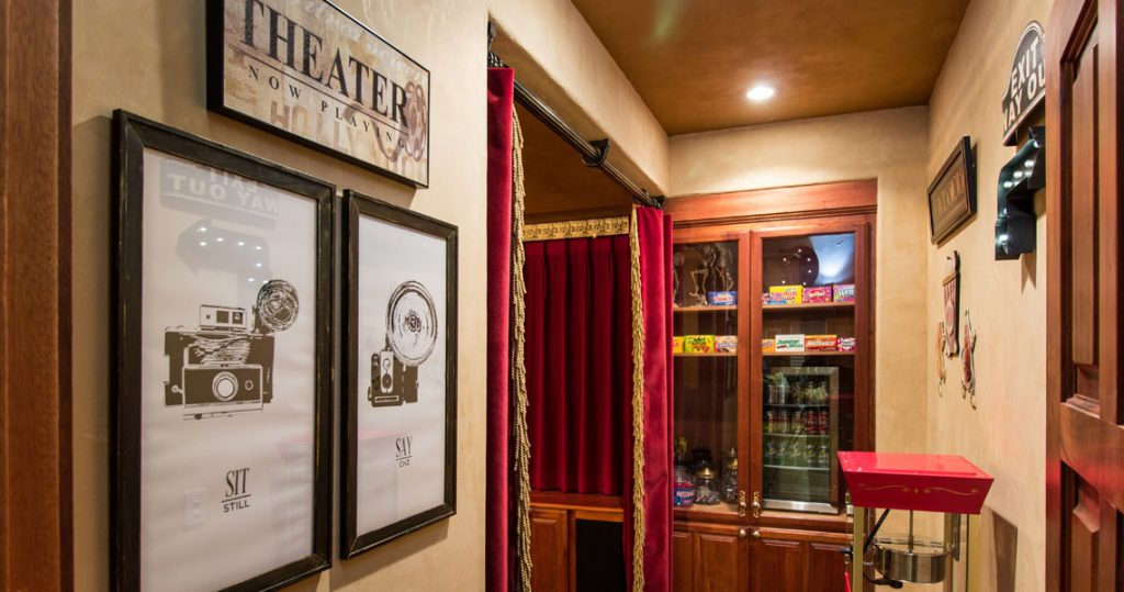 entrance to home theatre
